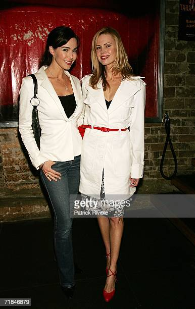 TV host Belinda Mathieson attends with nutritionist and writer Karen Fischer the launch of Tara Moss's third book Hit at de Nom Darlinghurst on...