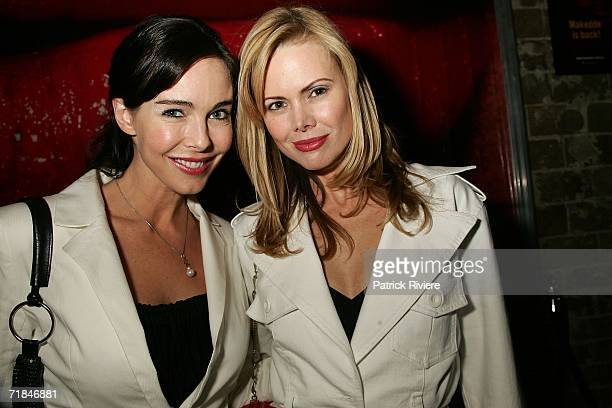 TV host Belinda Mathieson attends with nutritionist and writer Karen Fischer the launch of Tara Moss's third book Hit at de Nom Darlinghurst on...