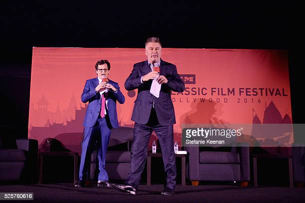 TCM host Ben Mankiewicz and actor Alac Baldwin speak onstage at the screening of 'All The President's Men' during the TCM Classic Film Festival 2016...