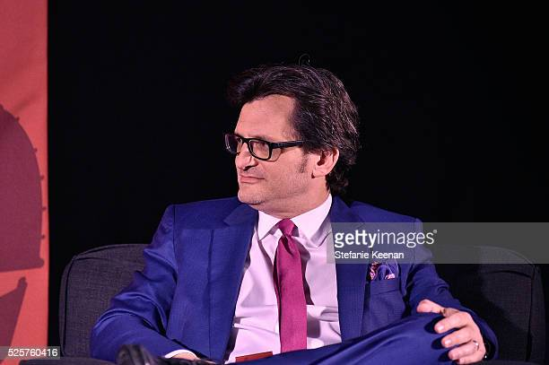 TCM host Ben Mankiewicz speaks onstage at the screening of 'All The President's Men' during the TCM Classic Film Festival 2016 Opening Night on April...