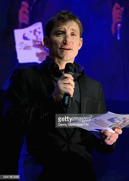 Host Ben Shephard on stage during Betfair's 'Newsroom's Got Talent' which raises funds for three charities Leonard Cheshire Disability SANE and Helen...