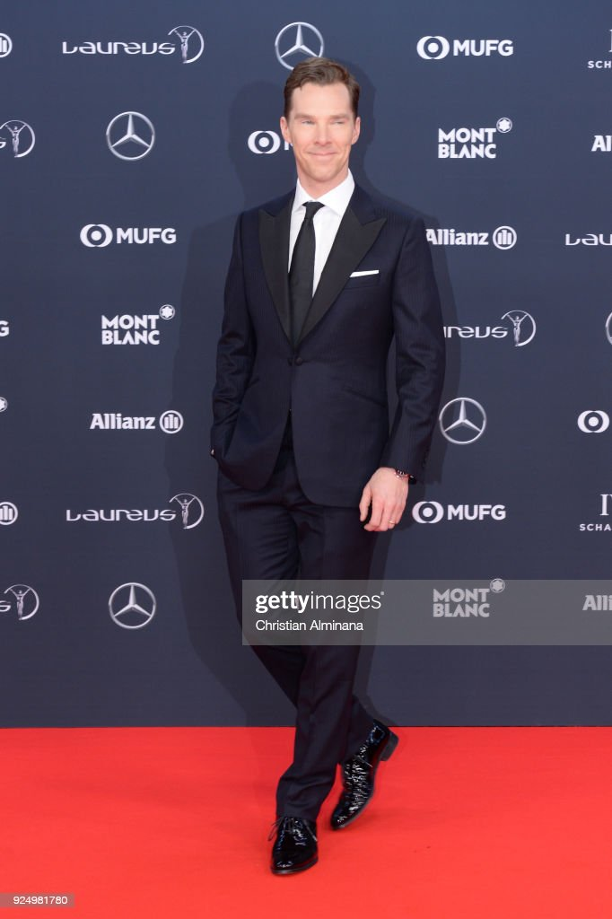 Host Benedict Cumberbatch attends the 2018 Laureus World Sports Awards at Salle des Etoiles, Sporting Monte-Carlo on February 27, 2018 in Monaco, Monaco.