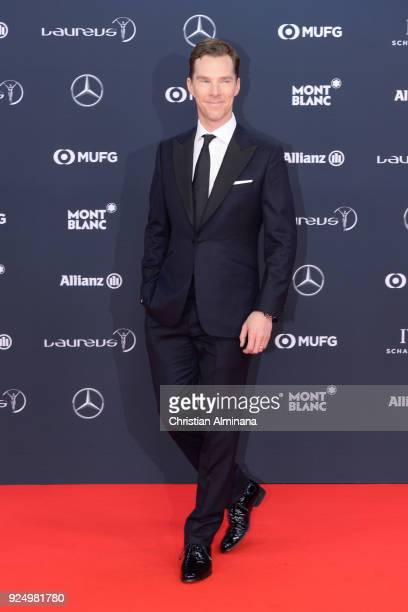 Host Benedict Cumberbatch attends the 2018 Laureus World Sports Awards at Salle des Etoiles Sporting MonteCarlo on February 27 2018 in Monaco Monaco