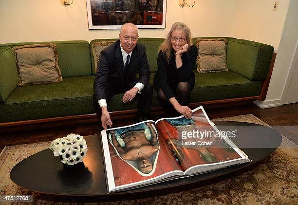 Host Benedikt Taschen and photographer Annie Leibovitz attend The Annie Leibovitz SUMOSize Book Launch presented by Vanity Fair Leon Max and Benedikt...