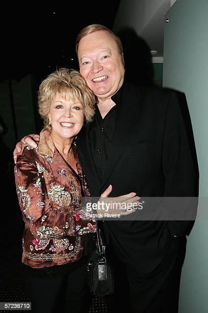 TV host Bert Newton and his wife Patti attend the nominations ceremony for the 2006 TV Week Logie Awards at the Powerhouse Museum on April 3 2006 in...