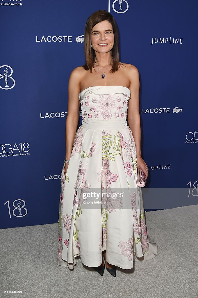Host Betsy Brandt attends the 18th Costume Designers Guild Awards with Presenting Sponsor LACOSTE at The Beverly Hilton Hotel on February 23, 2016 in Beverly Hills, California.
