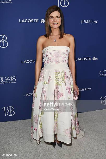 Host Betsy Brandt attends the 18th Costume Designers Guild Awards with Presenting Sponsor LACOSTE at The Beverly Hilton Hotel on February 23 2016 in...