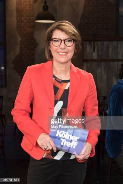 TV host Bettina Boettinger attends the 'Koelner Treff' TV Show at the WDR Studio on January 26 2018 in Cologne Germany