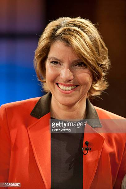Host Bettina Boettinger attends the photocall after the German TV Show 'Koelner Treff' on October 21 2011 in Cologne Germany