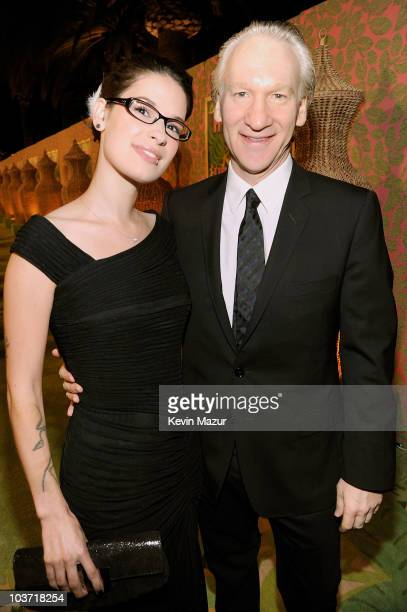 Host Bill Maher and Cara Santa Maria attend HBO after party for the 62nd Primetime Emmy Awards at Pacific Design Center on August 29 2010 in West...
