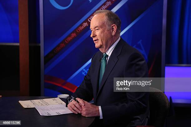 Host Bill O'Reilly appears on 'The O'Reilly Factor' on The FOX News Channel at FOX Studios on March 17 2015 in New York City