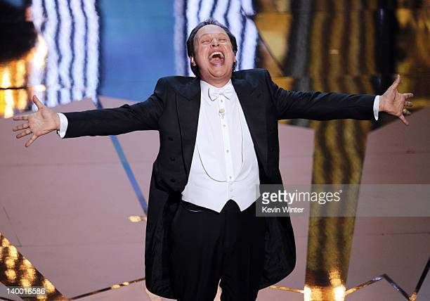 Host Billy Crystal performs onstage during the 84th Annual Academy Awards held at the Hollywood Highland Center on February 26 2012 in Hollywood...