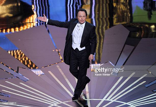 Host Billy Crystal performs onstage during the 84th Annual Academy Awards held at the Hollywood & Highland Center on February 26, 2012 in Hollywood,...