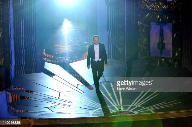 Host Billy Crystal speaks onstage during the 84th Annual Academy Awards held at the Hollywood Highland Center on February 26 2012 in Hollywood...