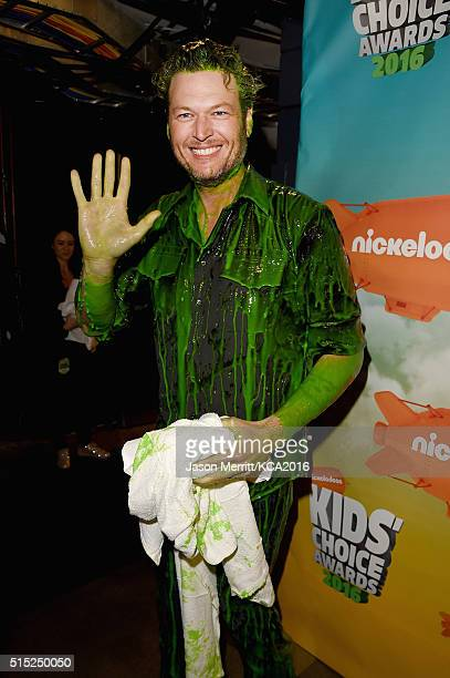 Host Blake Shelton attends Nickelodeon's 2016 Kids' Choice Awards at The Forum on March 12 2016 in Inglewood California