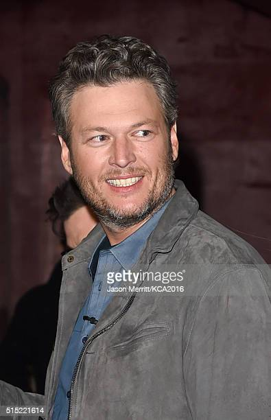 Host Blake Shelton backstage during Nickelodeon's 2016 Kids' Choice Awards at The Forum on March 12 2016 in Inglewood California