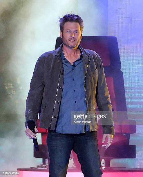 Host Blake Shelton speaks onstage during Nickelodeon's 2016 Kids' Choice Awards at The Forum on March 12 2016 in Inglewood California