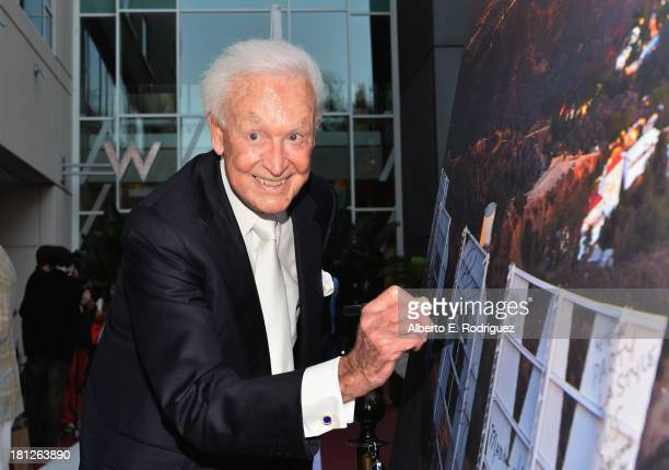 TV host Bob Barker attends The Hollywood Chamber of Commerce The Hollywood Sign Trust's 90th Celebration of the Hollywood Sign at Drai's Hollywood on...