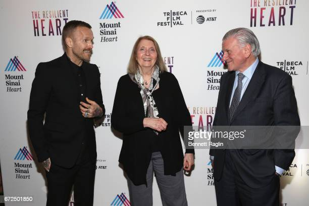 Host Bob Harper Director Susan Froemke and Director of Mount Sinai Heart and PhysicianinChief of The Mount Sinai Hospital Dr Valentin Fuster MD PHD...