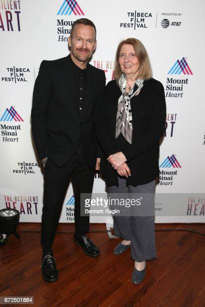 Host Bob Harper Director Susan Froemke and Director of Mount Sinai Heart during the Tribeca Film Festival premiere for the feature documentary The...