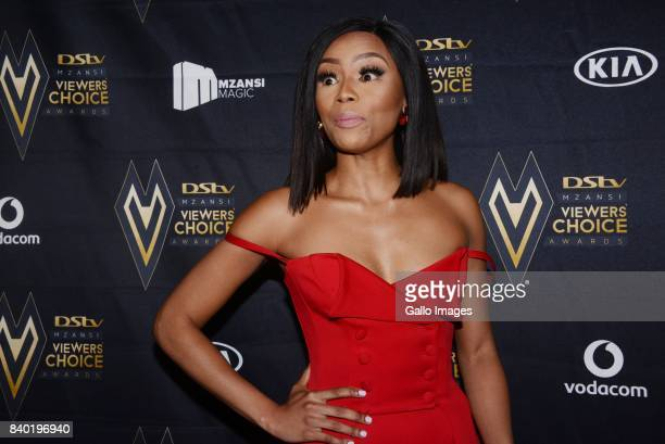 TV host Bonang Matheba during the DStv Mzansi Viewers Choice Awards event at the Sandton Convention Centre on August 26 2017 in Sandton South Africa...