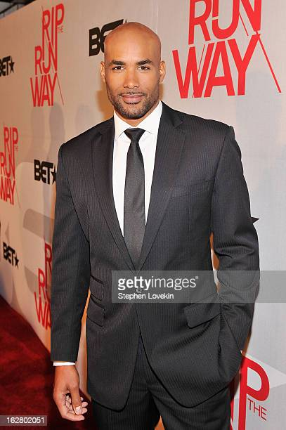 Host Boris Kodjoe attends BET's Rip The Runway 2013Red Carpet at Hammerstein Ballroom on February 27 2013 in New York City