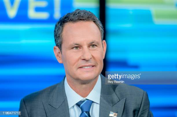 """Host Brian Kilmeade as film producer Brian Grazer visits """"Fox & Friends"""" to discuss his new book """"Face to Face: The Art of Human Connection"""" at Fox..."""