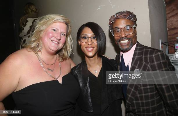 Host Bridget Everett, MJ Rodriguez and Billy Porter pose at the 34th annual CSA Artios Awards at Stage 48 on January 31, 2019 in New York City.