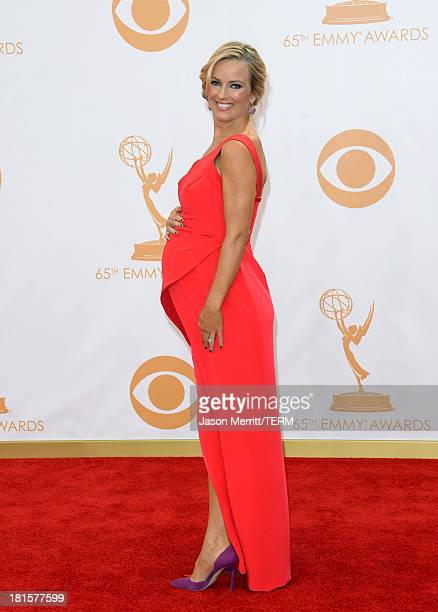 TV host Brooke Anderson arrives at the 65th Annual Primetime Emmy Awards held at Nokia Theatre LA Live on September 22 2013 in Los Angeles California