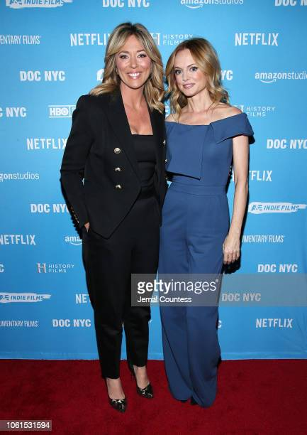 """Host Brooke Baldwin and actor Heather Graham attend """"This Changes Everything"""" New York Premiere At DOC NYC Presented By Lyft Entertainment and NYWIFT..."""