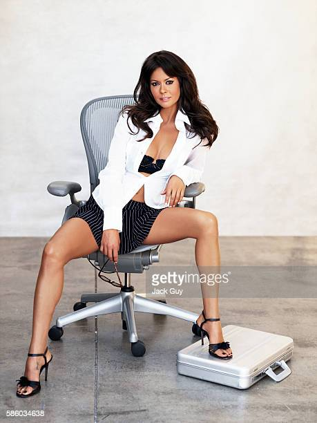 TV host Brooke Burke is photographed for Razor Magazine on August 19 2005 in Los Angeles California PUBLISHED IMAGE