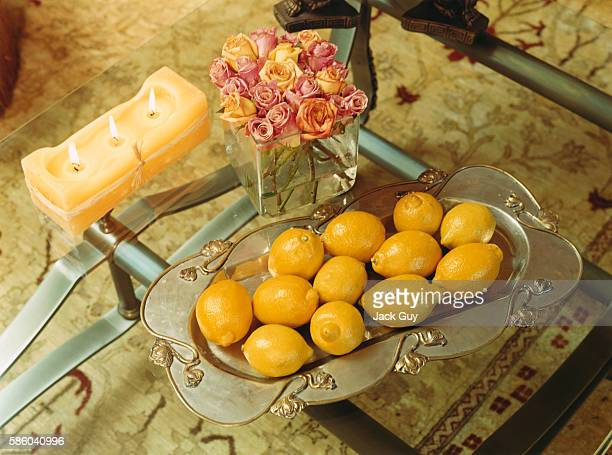 TV host Brooke Burke's coffee table is photographed for In Touch Weekly on February 18 2003 in Los Angeles California PUBLISHED IMAGE