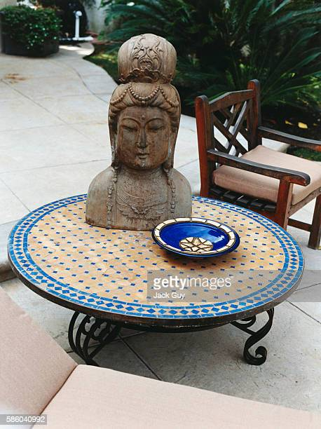 TV host Brooke Burke's patio is photographed for In Touch Weekly on February 18 2003 at home in Los Angeles California PUBLISHED IMAGE