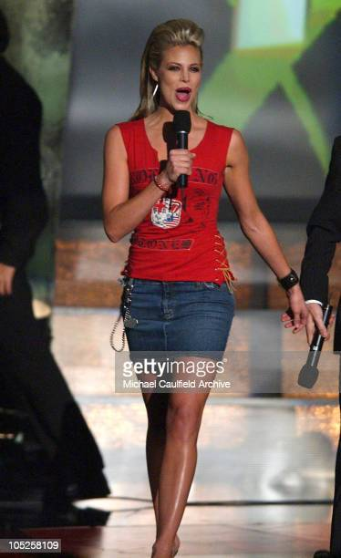 Host Brooke Burns during 2003 Radio Music Awards Show at The Aladdin Hotel and Casino in Las Vegas Nevada United States