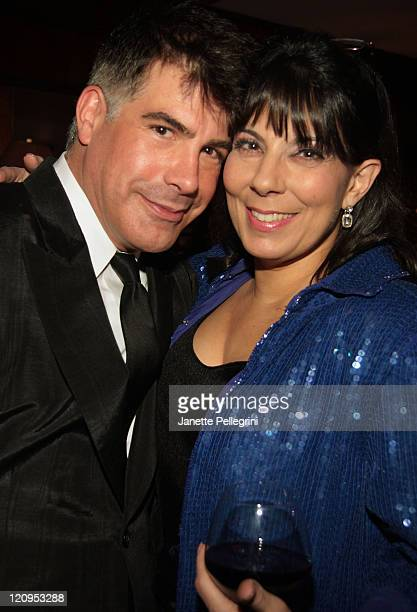 Host Bryan Batt and Christine Pedi attend Broadway Bears XII at BB Kings on February 15 2009 in New York City