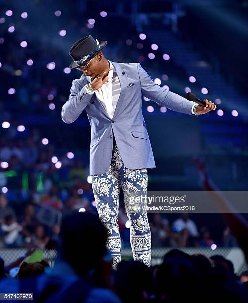 Host Cam Newton speaks onstage during the Nickelodeon Kids' Choice Sports Awards 2016 at UCLA's Pauley Pavilion on July 14 2016 in Westwood...