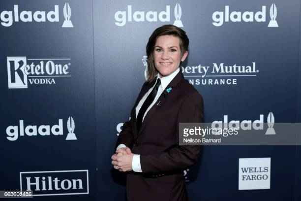 Host Cameron Esposito celebrates achievements in the LGBTQ community at the 28th Annual GLAAD Media Awards sponsored by LGBTQ ally Ketel One Vodka in...