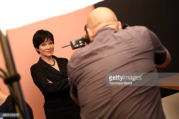 Host Candice DeLong of Investgation Discovery's 'A New Season of ID' attends the Getty Images Portrait Studio powered by Samsung Galaxy at 2015...