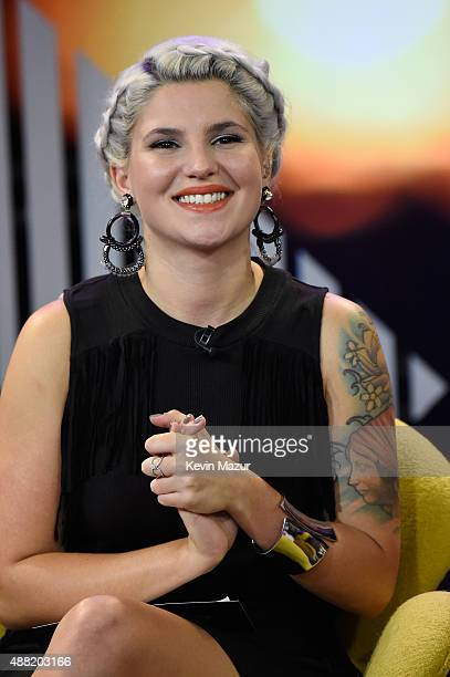 Host Carly Aquilino attends a taping of MTV's new talk show Girl Code Live Girl Code Live airs Mondays at 1030 PM ET/PT at 1515 Broadway on September...