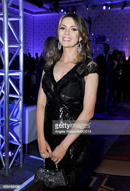 Host Carly Steel attends the official 2014 American Music Awards after party at the at Nokia Theatre LA Live on November 23 2014 in Los Angeles...