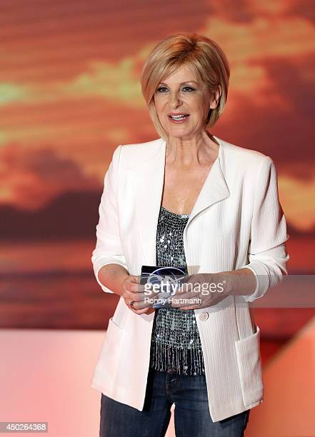 TV host Carmen Nebel attends the 'Willkommen bei Carmen Nebel' show at GETEC Arena on June 07 2014 in Magdeburg Germany