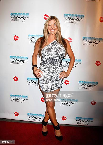 Host Carmen Palumbo arrives for 'Seducing Cindy' Finale Party at Guy's North on March 18 2010 in Studio City California