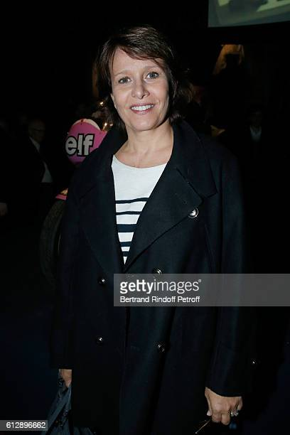 Host Carole Rousseau attends the Coluche Exhibition Opening This exhibition is organized for the 30 years of the disappearance of Coluche Held at...