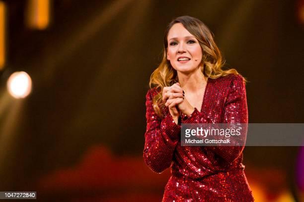 Host Carolin Kebekus at the 22nd Annual German Comedy Awards at Studio in Koeln Muehlheim on October 7 2018 in Cologne Germany