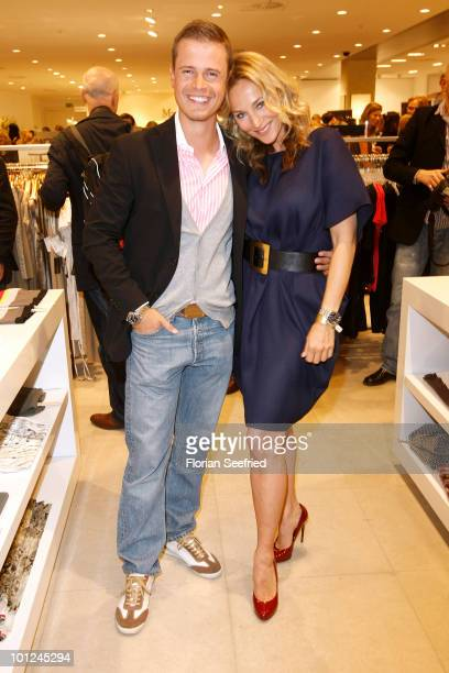 TV host Caroline Beil and boyfriend actor Pete Dwojak attend the 'Sex And The City 2' Movie Night by Peek Cloppenburg at Peek Cloppenburg flagship...