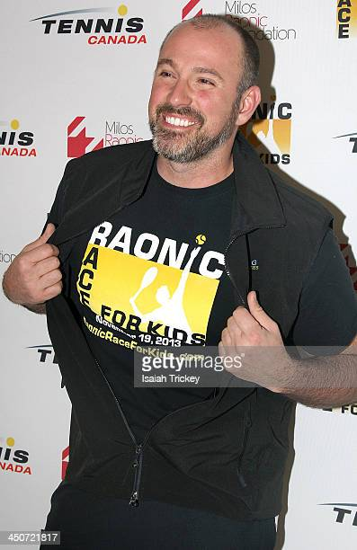 Host Carson Arthur attends The 2nd Annual Raonic Race For Kids Fundraiser Benefitting The Milos Raonic Foundation on November 19 2013 in Toronto...