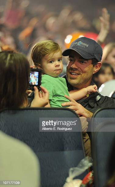 TV host Carson Daly and son Jackson James Daly attend Yo Gabba Gabba Live There's A Party In My City at Nokia LA Live on November 27 2010 in Los...
