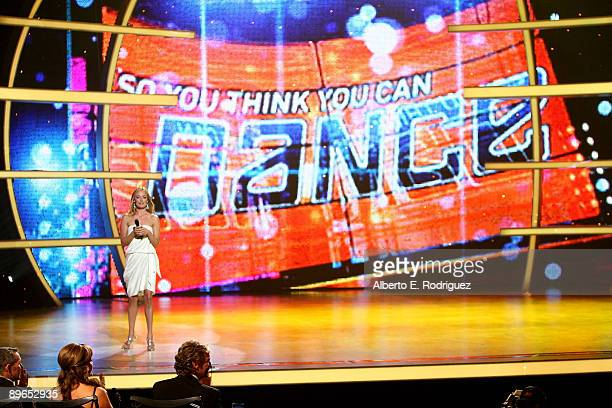 TV host Cat Deeley at the So You Think You Can Dance finale held at the Kodak Theater on August 6 2009 in Hollywood California