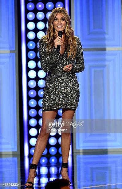 Host Cat Deeley speaks onstage at the 5th Annual Critics' Choice Television Awards at The Beverly Hilton Hotel on May 31 2015 in Beverly Hills...