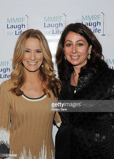 TV host Cat Greenleaf and Donna Zaccaro Ullman at the MMRF Laugh for Life event at BB King Blues Club Grill on May 16 2011 in New York City